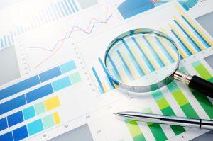 Analyzing finances.